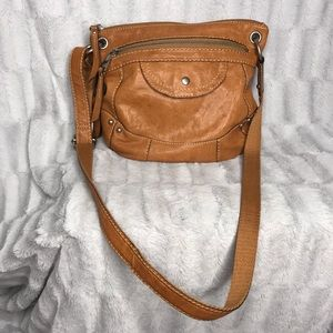 Fossil Brown Leather Crossbody Bag